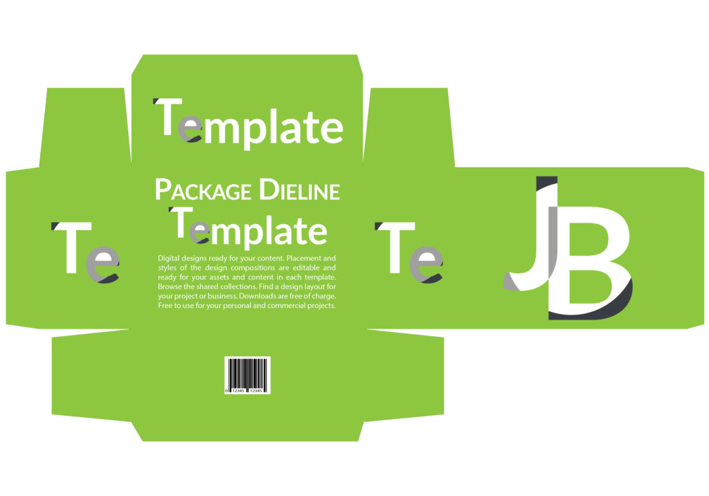 Package 10in Dieline - Free and Editable Template Download