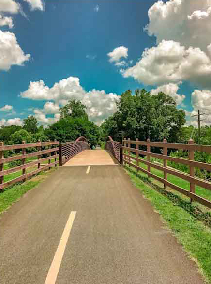 Stock Photo Image of Bridge at Silver Comet Bike Trail - Bike Trail Stock Photo