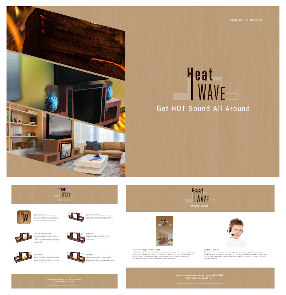Photoshop UI Template. Website 3 Page. Free Adobe Photoshop Web Template